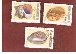 NORTH VIETNAM - SG N608.610  -     1970 SEA-SHELLS        -  USED - Vietnam