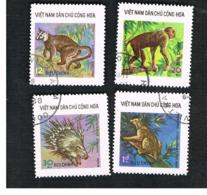 NORTH VIETNAM - SG N850.N857  -     1976  WILD ANIMALS      -  USED - Vietnam