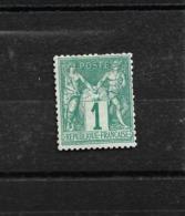 TB SAGE N/B N 61 VERT Neuf  **  Côte 180€ - 1876-1878 Sage (Typ I)