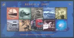 NEW ZEALAND - MNH/** - 2001 - BELGICA TRANSPORTS - Yv 148 -  Lot 20664 - Blocs-feuillets