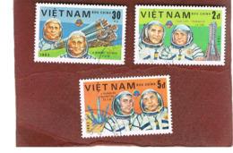 VIETNAM - SG 563.570  -     1983   COSMONAUTS      -  USED - Vietnam