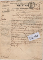 VP15.917 - Ville De PARIS 1831 - Généalogie - Extrait Acte De Naissance De Melle Thérèse - Eugénie BARDOT - Documents Historiques