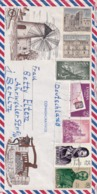Spain 1977 Air Mail Cover To Germany: Nature Tourism; Windmillvand Draw Wheel; Horse Pferd: Architecture; Airplane; - Holidays & Tourism