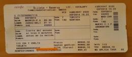 AVE BILLETE + RESERVA MADRID - ZARAGOZA. RENFE ESPAÑA. - Europa