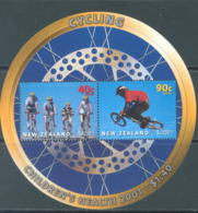 NEW ZEALAND - MNH/** - 2001 - CHILDREN'S HEALT CYCLING - Yv 149 -  Lot 20665 - Blocs-feuillets