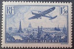 R1615/1359 - 1936 - POSTE AERIENNE - AVION SURVOLANT PARIS - N°9 NEUF** - 1927-1959 Mint/hinged