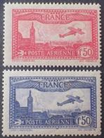 R1615/1360 - 1930 - POSTE AERIENNE - AVION SURVOLANT MARSEILLE - N°5 à 6 NEUFS** - Cote : 94,00 € - Luftpost