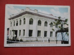 DE LA GUANTANAMO SUGAR CO. CREASE STAMP PULLED OFF BACK  Cuba   Ref 3686 - Cuba