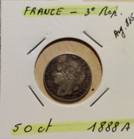 50 CENT.   ---  1888 A --   2 SCANS - Frankreich