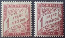 R1615/1371 - 1893 - TIMBRES TAXE. - N°40 Et 40A NEUFS* - Taxes