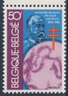 Belgie Belgique Belgium 1982 Mi 2090 YT 2038 SG 2685 ** Dr. Robert Koch + Tubercle Bacillus / TBC-Erreger + Mikroskop - Nobelprijs
