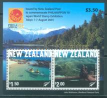 NEW ZEALAND - MNH/** - 2001 - PHILANIPPON KAYAK RANDONEE - Yv 150 -  Lot 20667 - Blocs-feuillets