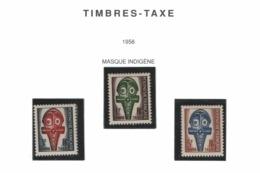 CH2(P1L8) Polynésie ** 1958 Timbres Taxes Masque 1/3 - Timbres-taxe