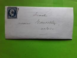Lettre D' AMIENS, Somme Pc 65 Sur Empire No 14 A, 21 Juillet 1855, Cachet à Date OMIS > Aumatre Oisemont, TB - Storia Postale