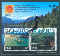 NEW ZEALAND - USED/OBLIT. - 2001 - PHILANIPPON KAYAK RANDONEE - Yv 150 -  Lot 20668 - Blocs-feuillets