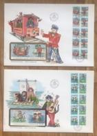 Norvège 2 (grandes) Lettres FDC Illustrées 1984 - (L121) - Norway