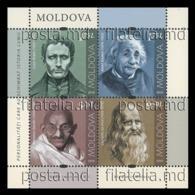 Moldova 2019 Mih. 1119/22 (Bl.84) Louis Braille. Albert Einstein. Mahatma Gandhi. Leonardo Da Vinci MNH ** - Moldavie