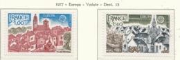 PIA - FRANCIA  - 1977 : Europa - Vedute . Villaggio Provenzale E Port Breton -  (Yv  1928-29) - Europa-CEPT