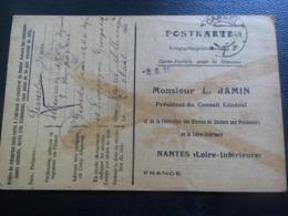Carte Secours Aux Prisonniers De Guerre, SEVESTRE Jean 126e RI, Originaire De Pontchateau  (44) - 1914-18