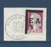 Etat Algérien - EA - Oblitéré Sur Fragment - émission Provisoire - Surcharge Typographique - 1962 - Alger - H . - - Algeria (1924-1962)