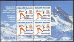 WINTER OLYMPICS Olympische Winterspiele Olympiques D'hiver LILLEHAMMER GREENLAND GROENLAND GRÖNLAND 1994 MI BL.5 SKIING - Winter 1994: Lillehammer