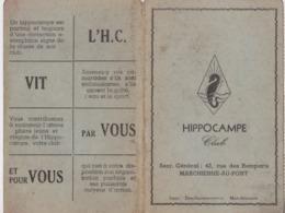 Hippocampe Club, Carte De Membre, Marchienne-Au-Pont. Sport Natation. - Natation