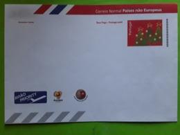 PORTUGAL 2003, Lettre Entier Postal EUROPE ,Sapin De NOEL, LOGO Football EURO 2004, Neuve TB - Colis Postaux