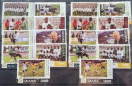 Ghana 2006 World Cup LOT USED POSTAGE FEE EXTRA - Ghana (1957-...)
