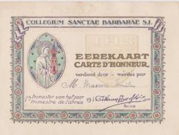 Collège Sainte-Barbe, Collegium Sanctae Barbarae, Carte D'Honneur 1935. Paris. - Diplômes & Bulletins Scolaires