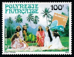 POLYNESIE 1983 - Yv. PA 176 **   Faciale= 0,84 EUR - Expo Phil. Intern. Brasiliana'83   ..Réf.POL24447 - Poste Aérienne