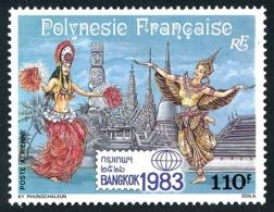 POLYNESIE 1983 - Yv. PA 177 **   Faciale= 0,92 EUR - Expo Phil. Intern. Bangkok' 1983  ..Réf.POL24448 - Poste Aérienne
