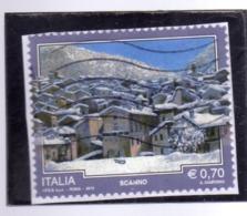 ITALIA REPUBBLICA ITALY REPUBLIC 2013 PROPAGANDA TURISTICA TOURISM SCANNO USATO USED OBLITERE' - 6. 1946-.. Repubblica