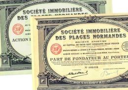 Société Immobilière Des Plages Normandes, Part + Action - Tourisme