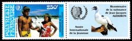 POLYNESIE 1985 - Yv. PA 188 ** Avec Vignette  Faciale= 2,10 EUR - Année Intern. De La Jeunesse  ..Réf.POL24455 - Poste Aérienne