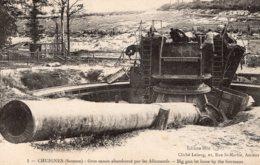 B58846 Cpa Chuignes - Gros Canon Abandonné Par Les Allemands - Francia
