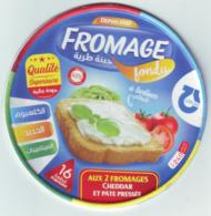 """Algérie - 1  Couvercle De  Fromage Fondu """" GIPLAIT"""" 16 Portions. - Fromage"""