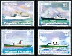 POLYNESIE 1978 - Yv. 124 125 126 Et 127 **   Cote= 18,00 EUR - Navires En Polynésie (4 Val.)  ..Réf.POL24468 - Französisch-Polynesien