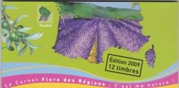 2009 Carnet Flore Des Régions Carnet N°C303 - France