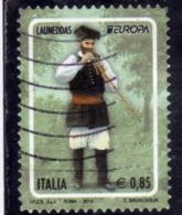 ITALIA REPUBBLICA ITALY REPUBLIC  2014 EUROPA SUONATORE DI LAUNEDDAS € 0,85 USATO USED OBLITERE' - 6. 1946-.. Repubblica