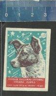 SPACE DOG  LAIKA ESPACE SPACE RUIMTEVAART RAUM KOSMOS Matchbox Label URSS - Boites D'allumettes - Etiquettes