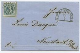 1861 Altdeutschland Bayern → Brief Kirchheimbolanden Nach Neustadt - Bavaria