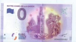 2016 BILLET TOURISTIQUE 0 Euro   Notre - Dame - De - La - Garde   Dpt 13  Port 1.50    Numero Aleatoire - Private Proofs / Unofficial