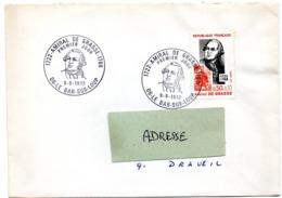 MARINE = 06 LA BAR SUR LOUP 1972 = CACHET PREMIER JOUR Illustré  'AMIRAL DE GRASSE ' N° Yvt 1727 - Bateaux