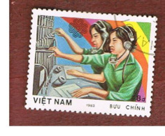 VIETNAM - SG 621  -     1983   WORLD COMMUNICATIONS YEAR: TELEPHONISTS     -  USED - Vietnam