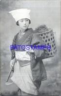 122602 JAPAN COSTUMES GIRL WORKING POSTAL POSTCARD - Japan