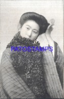 122604 JAPAN COSTUMES GEISHA BEAUTY POSTAL POSTCARD - Japan