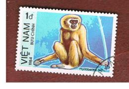 VIETNAM - SG 668    - 1984  PROTECTED ANIMLS: COMMON GIBBON   -  USED - Vietnam