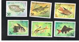 VIETNAM - SG 700.705    - 1984 FISHES     -  USED - Vietnam