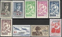 Algeria   1942-6  9 Diff   MLH     2016 Scott Value $9.10 - Algeria (1924-1962)