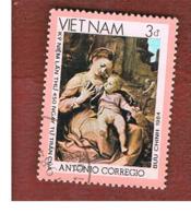 VIETNAM - SG 759    - 1984 CORREGGIO: MADONNA DELLA CESTA   -  USED - Vietnam